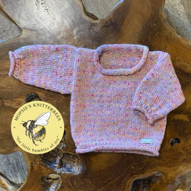 Cosy Cuddles Handmade Knitted Baby Jumper from Mopsie's Knitterbees