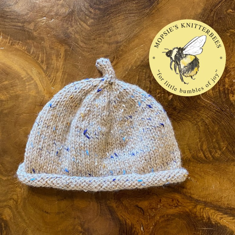 Dormouse Cuddles Handmade Knitted Baby Hat from Mopsie's Knitterbees