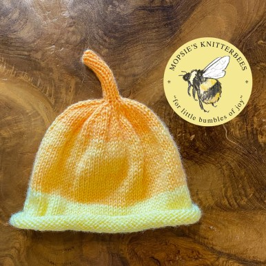 Soft Candy Handmade Knitted Baby Hat from Mopsie's Knitterbees