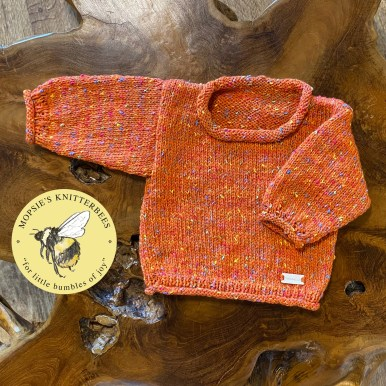 Snuggly Spice Handmade Knitted Baby Jumpers from Mopsie's Knitterbees