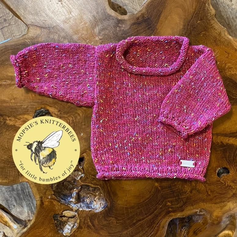 Twinkle Spells Handmade Knitted Baby Jumper from Mopsie's Knitterbees