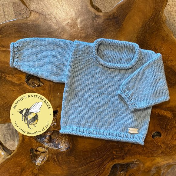 Willow Whispers Handmade Knitted Baby Jumper from Mopsie's Knitterbees