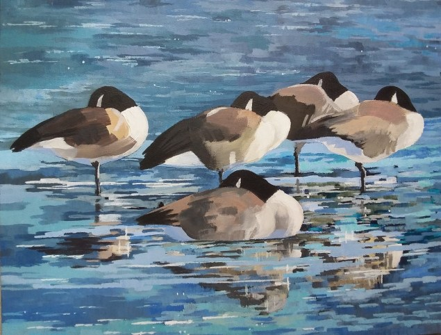 Canada Geese by Viv Rainsbury