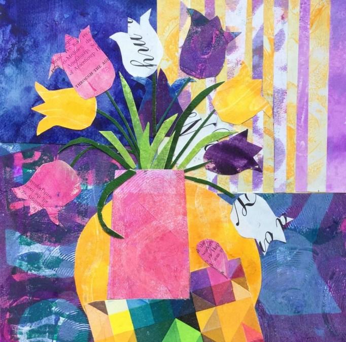 Tulips after dark by Dee Evans