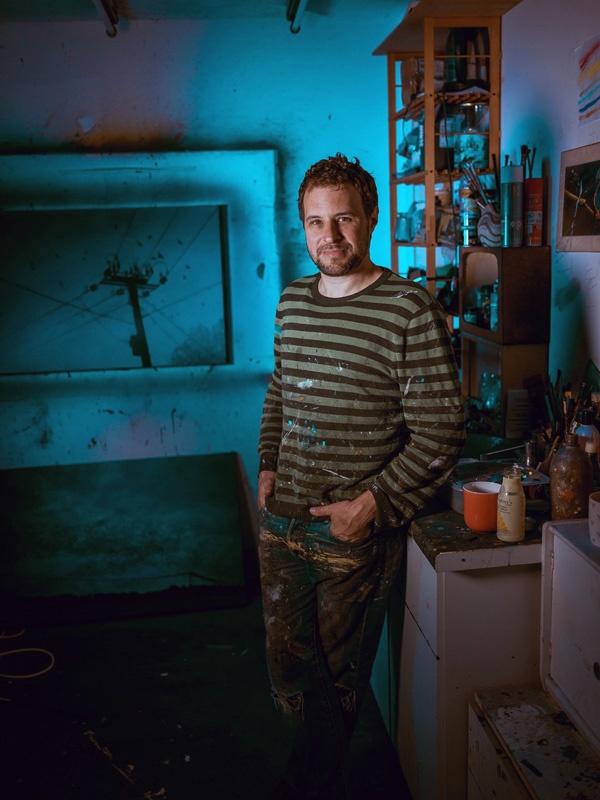 Brian Korteling in his studio. Credit: Sophie