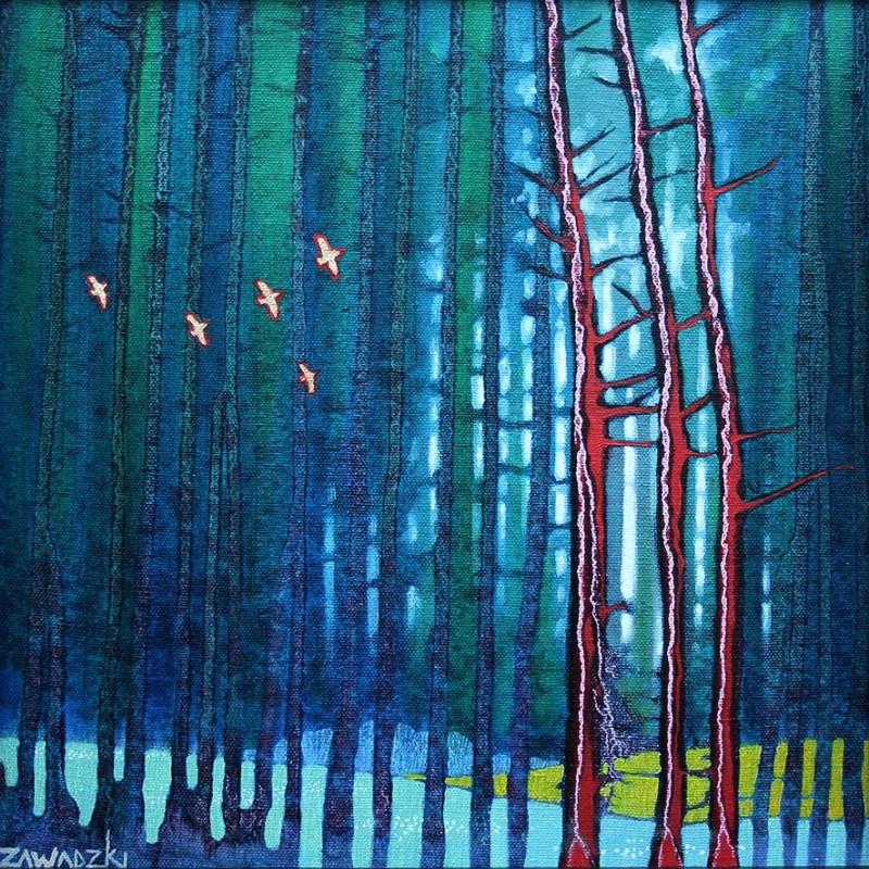 Paul Zawadzki Gold and Red Flight