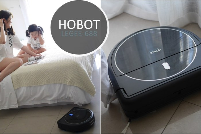 【家電開箱】HOBOT玻妞-雷姬掃拖地機器人LEGEE-688,貓砂貓毛也能清!吸地拖地一次搞定