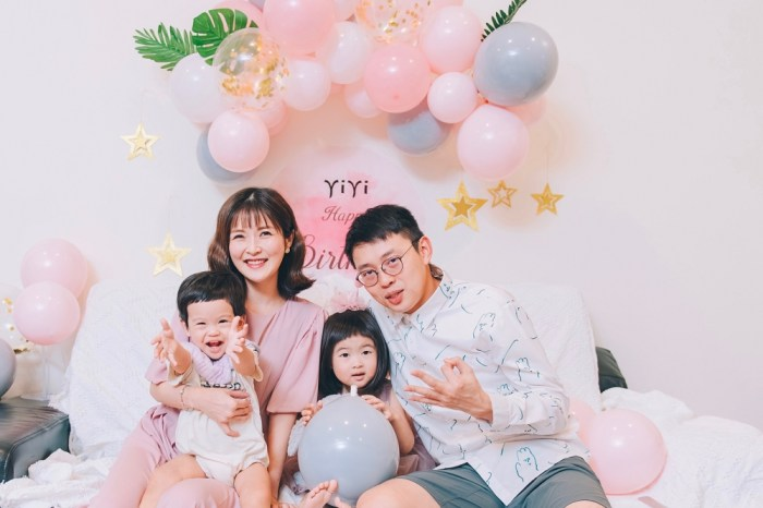 yiyi三歲生日 – 在家party 吃自己做的生日饅頭蛋糕