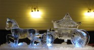 Horse and Carriage Ice Sculpture