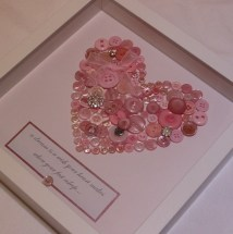 Button Heart Picture - £30