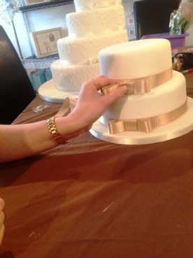 How to make a wedding cake bow Step 9 Cakes by Shelly