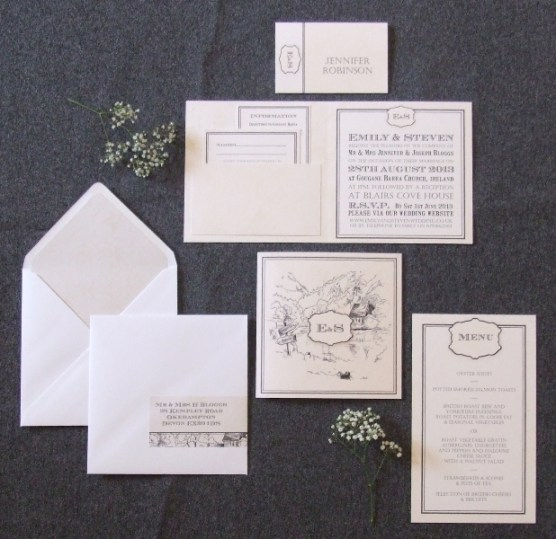A Perfect Place Wedding Stationery