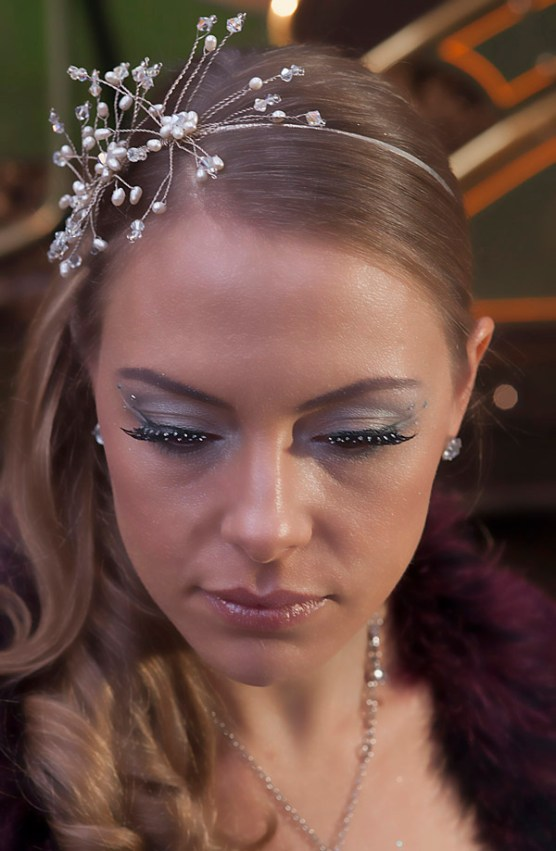 Sparkley Winter Wedding Eye Make Up