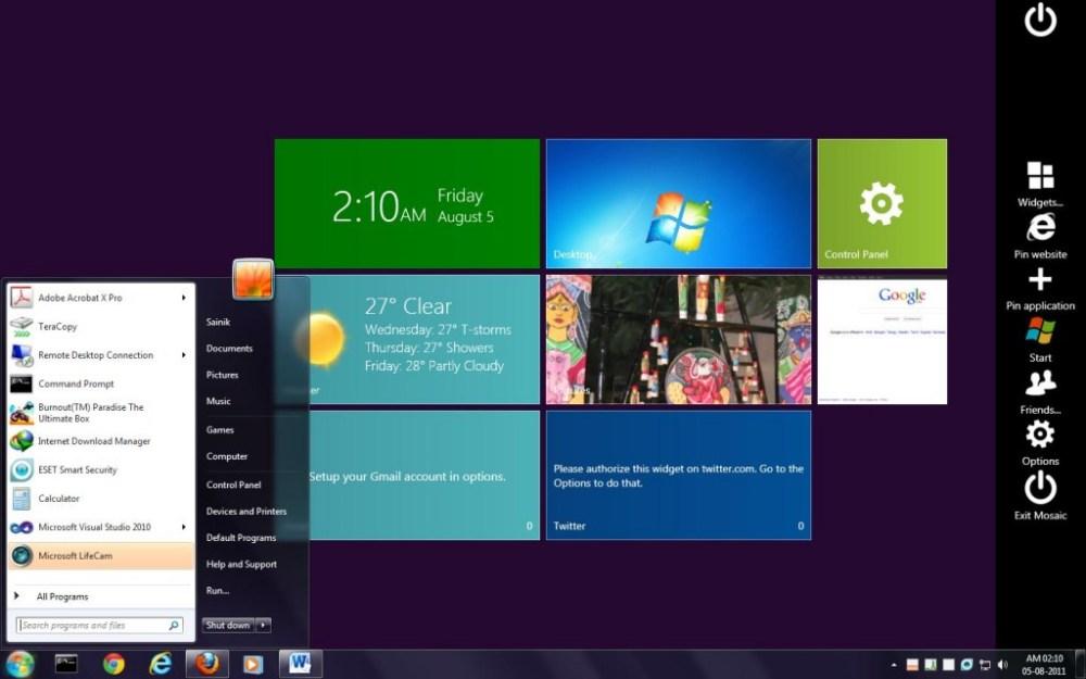 Wishlist: Windows 8 Desktop Modes