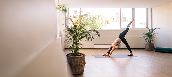 Personal Yoga Flow in Yoga Studio