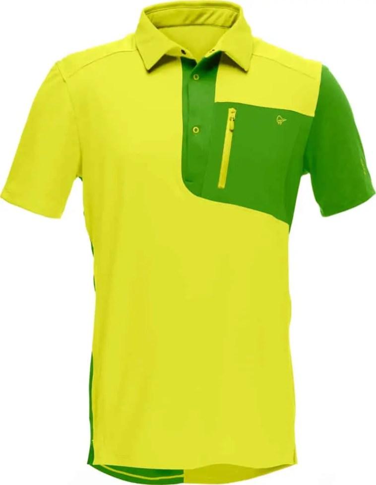 Norrøna fjora equalizer polo shirt sulphur spring