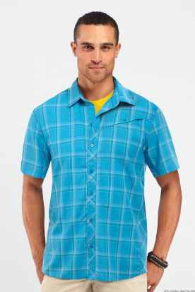 Icebreaker_M_SS14_First_Layer_Mens_Departure_SS_Shirt_Aegean_Plaid_Model_101085M18_1