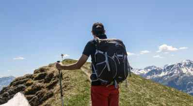 Relativ breiter Rucksack
