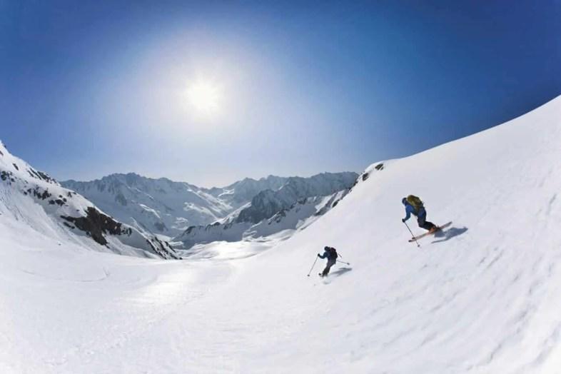 Skitour Hohe Wasserfalle, Stubaier Alpen, Tirol, Österreich.