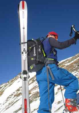 diagonale Skihalterung