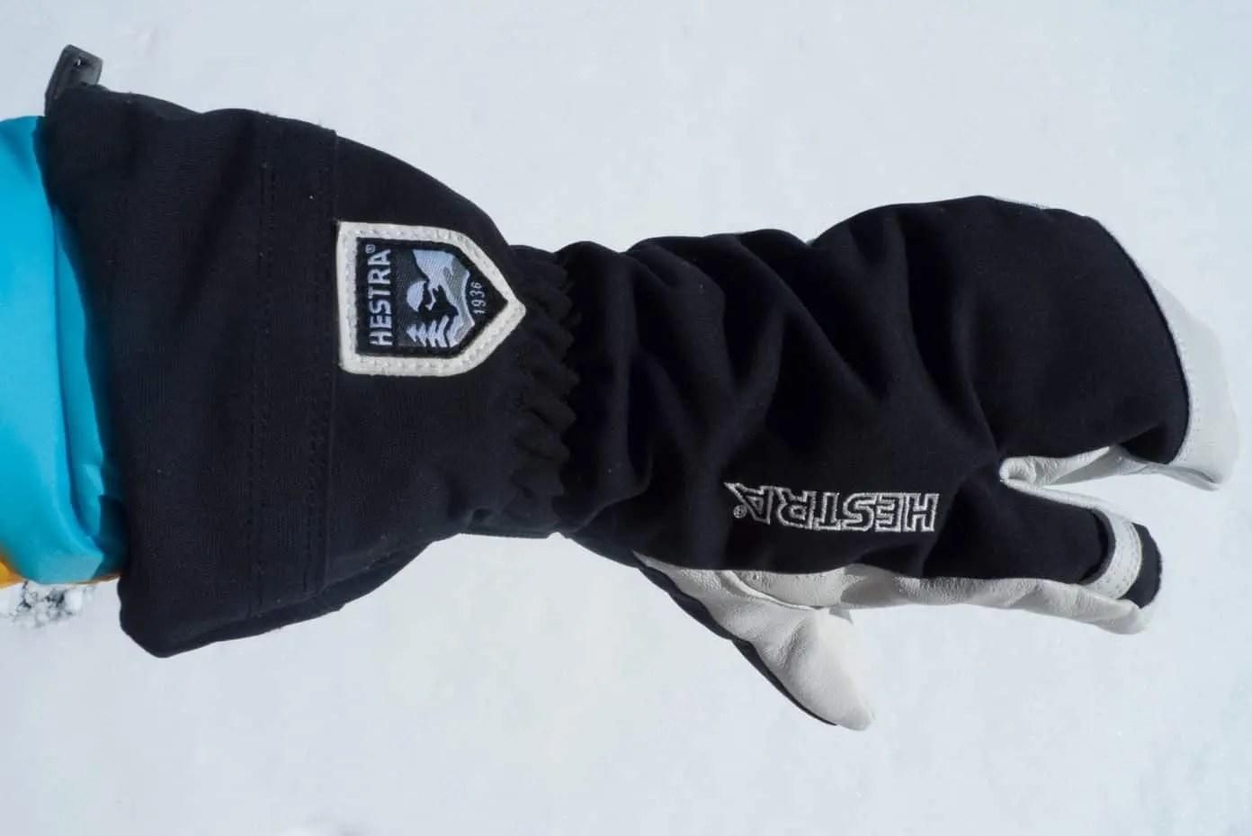 Hestra Army Leather Heli 3 finger Glove, black