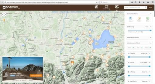 Screenshot-Karte