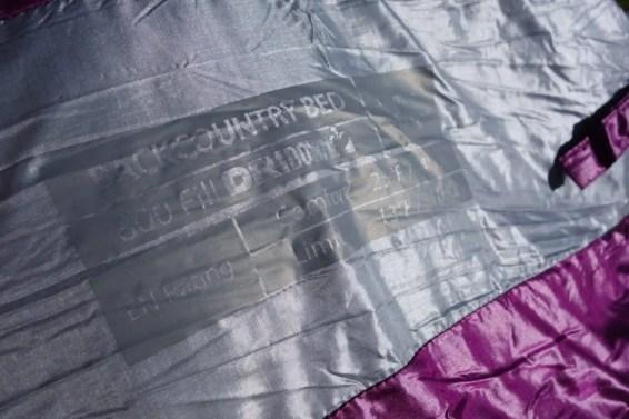 Sierra Designs Backcountry Bed 800 3 Season 8