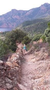 ...und eine zu steile und steinige Abfahrt für ein Flow-Erlebnis