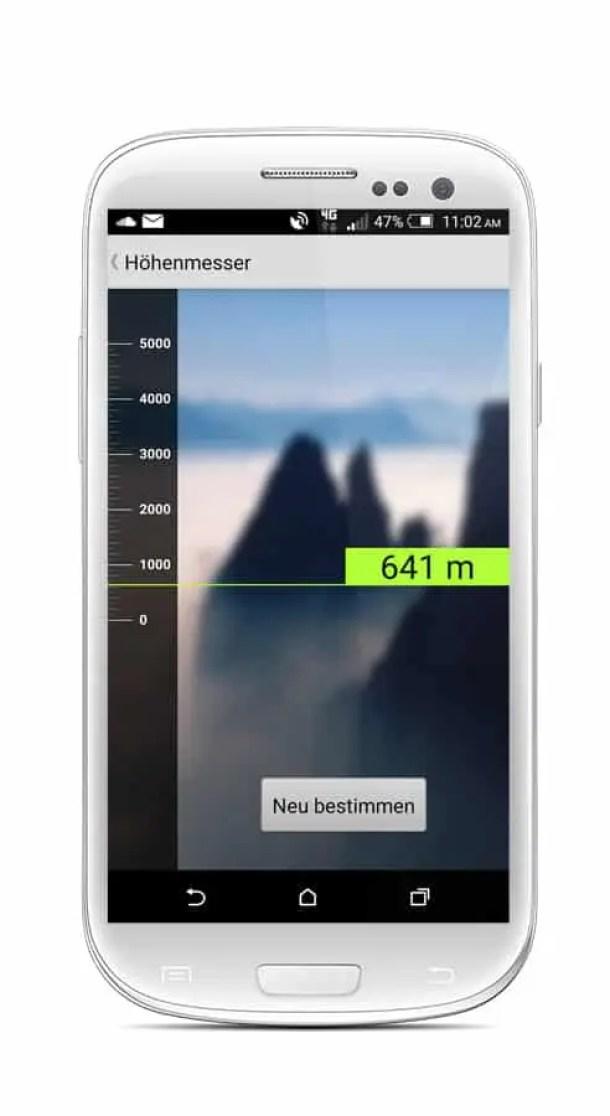 Ortovox Bergtouren App OVX_TourenApp_Android_Höhenmesser1
