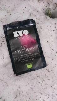 LYO FOODS POWDER Raspberry packaging