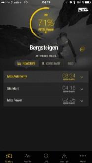 iOS App Statusanzeige der Akkulaufzeit nach 2 Stunden Betrieb