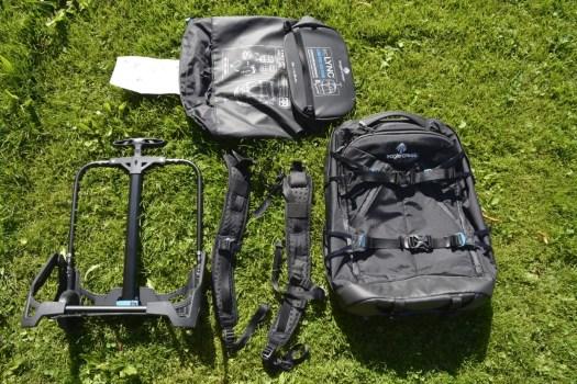 Packsack, Rollgestell, Rucksacktrageriemen, Tasche