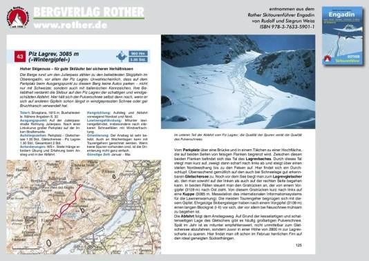Beispieltour Rother Skitourenführer Engadin