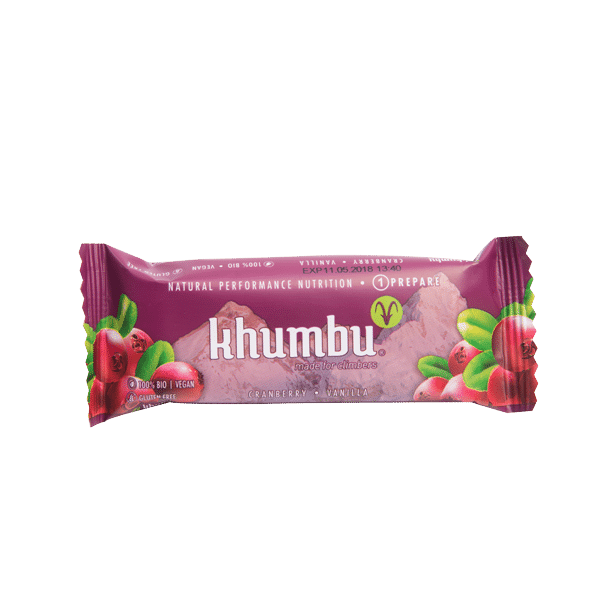 Khumbu Prepare:Bio Energieriegel Cranberry Vanilla 47 g