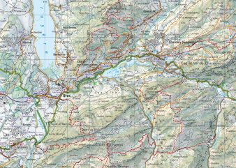 Kartenausschnitt A5 252T Charmey