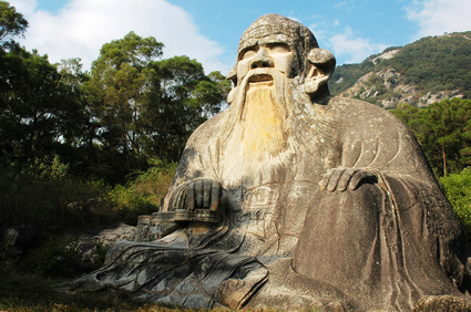 Laozi-Denkmal in China.