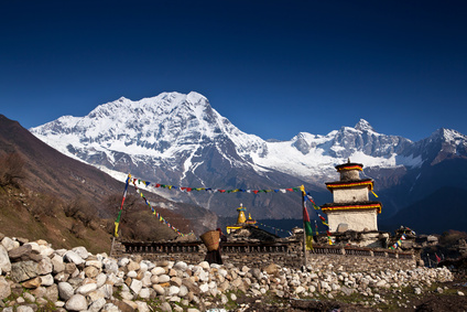 Buddhistischer Tempel in Nepal.