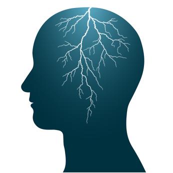 """Epilepsie wird oft auch als """"Gewitter im Gehirn"""" beschrieben."""