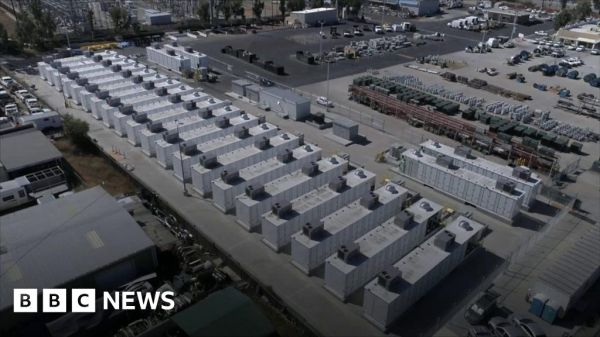 The world's biggest lithium battery farm - BBC News