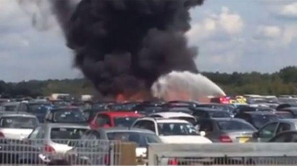 Blackbushe Airport: Four dead in car auction site plane ...