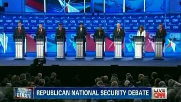 Republicans 2012: National security focus at TV debate ...
