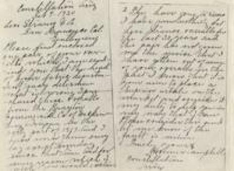 Letter from Homer Campbell to Levi Strauss