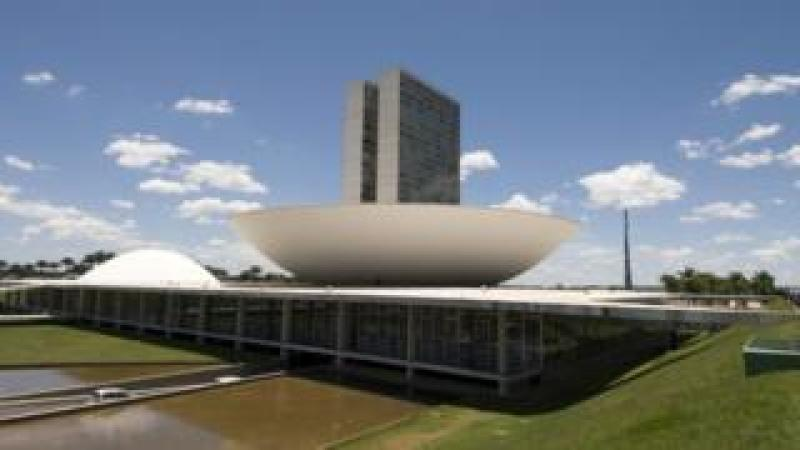 The seat of both chambers of Brazil Congress in Brazil's capital, Brasilia.