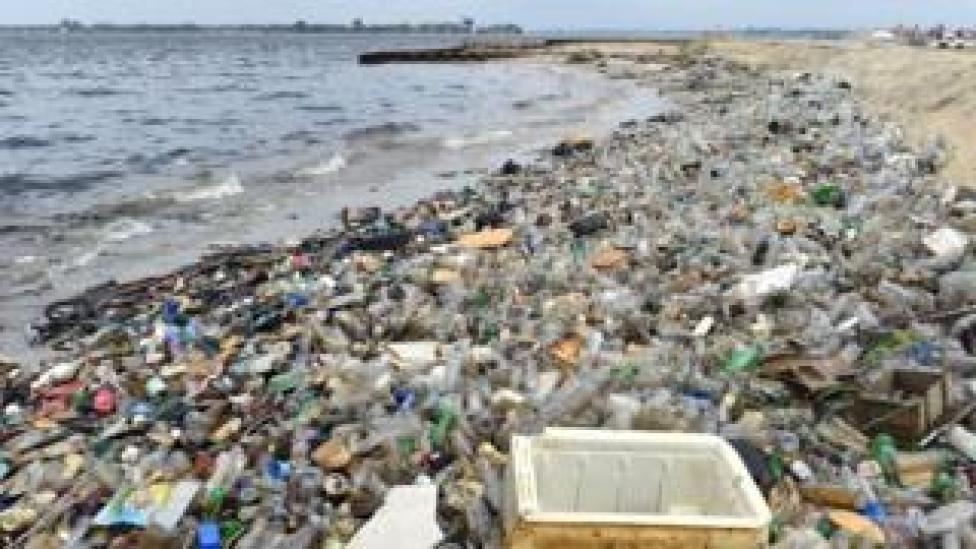 Plastic on Ivory Coast beach