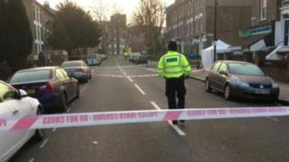Police cordon at Camden