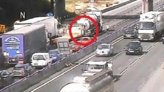 Cheshire tanker crash: M6 closed both ways after 'major ...