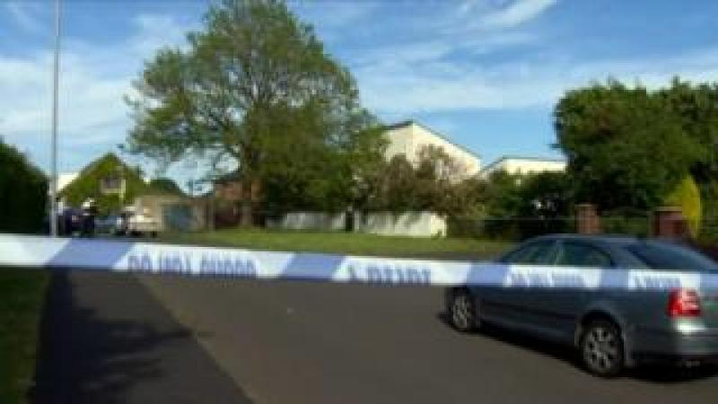 A police cordon at the scene of the couple's deaths in Upper Ramone Park
