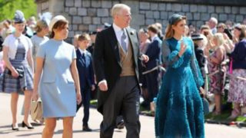 Princesses Eugenie and Beatrice with their father the Duke of York