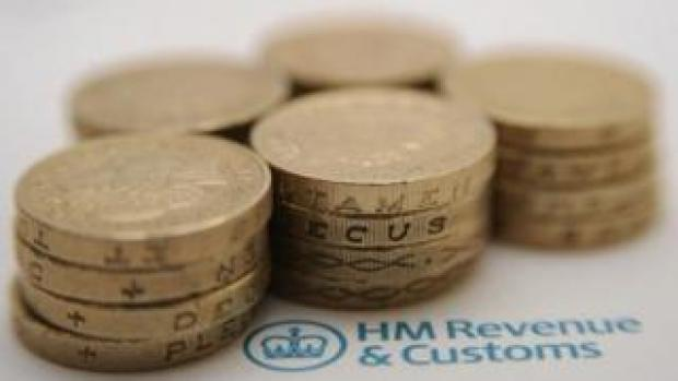 Coins on HMRC paperwork