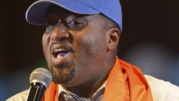 Mombasa county governor, Ali Hassan Joho, speaking at a rally